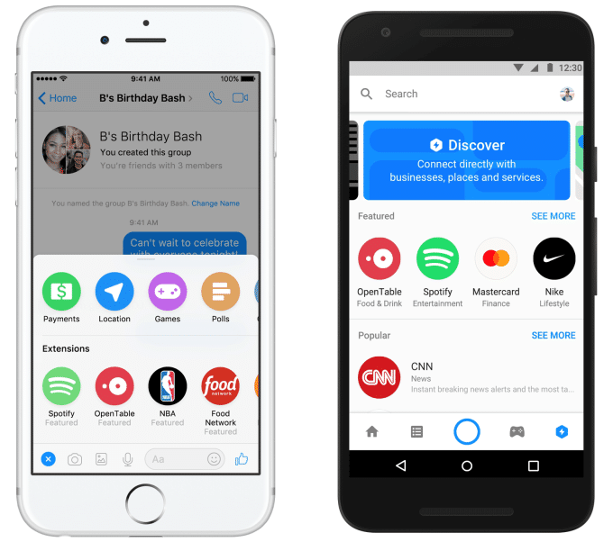 F8 Messenger bot appstore Discover