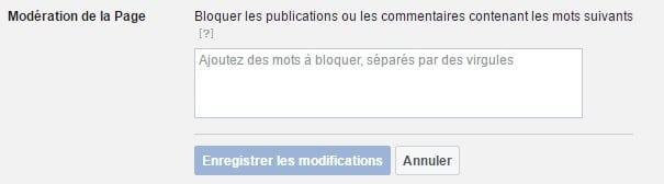 Modération page Facebook professionnelle
