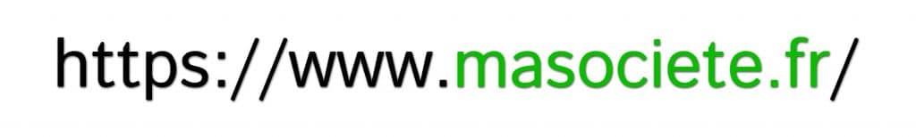 Exemple de nom de domaine d'un site internet