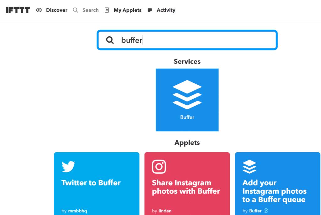 Buffer et IFTTT