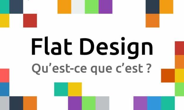 Qu'est-ce que le « flat design » ?