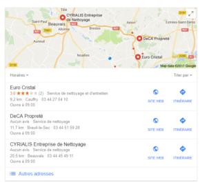 le moteur de réponse recherche pour vous un professionnel