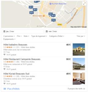 recherche d'un hôtel à Beauvais