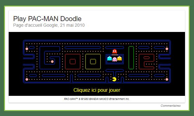 loisir et jeu avec le moteur de réponse comme Pacman