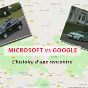 voiture de google street view et service de cartographie bing