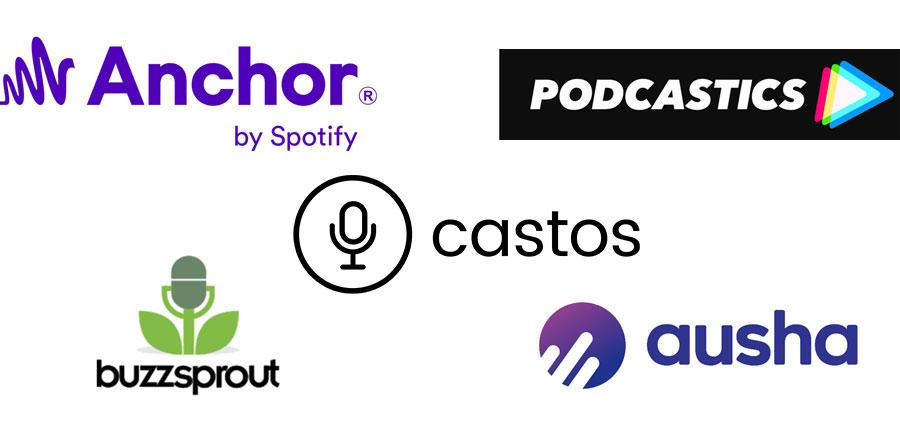 Exemple d'hébergeurs/diffuseurs de podcasts