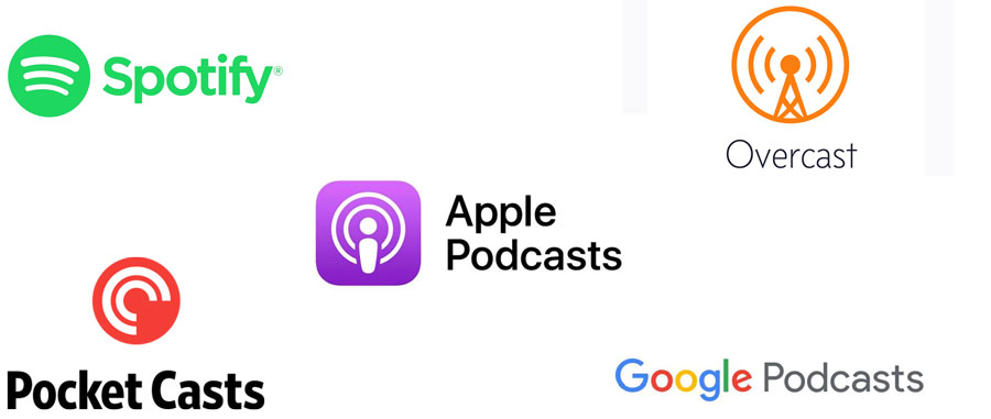 Exemple de plateformes d'écoutes de podcast